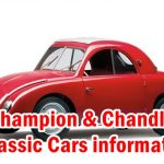 Old Vintage Cars - Champion & Chandler Useful information such as Models, Serial numbers, Engines, Cylinders, Spark plugs, Tires, Rims and etc.