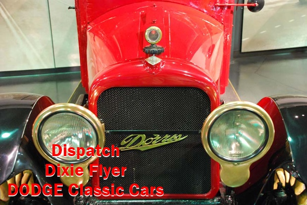 Cool Classic Cars - Dispatch Dixie Flyer and Dodge Here are the information about spare parts,Model,Year,Serial numbers,Cylinders,Battery & etc.