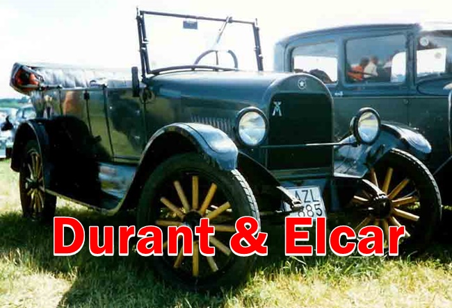 Durant & Elcar was a pioneer cars made in USA.