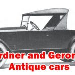 Gardner and Geronimo Antique cars