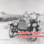 Classic cars Spare parts - Halladay, Here is the Halladay Old Car Information.You can find a most of valuable details in this article.
