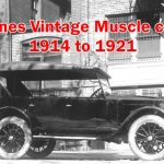 Details of Vintage Muscle cars Jones 1914 to 1921, Information include Engine,Cylinders,Car models,Value,Serial numbers,Type and production Years.